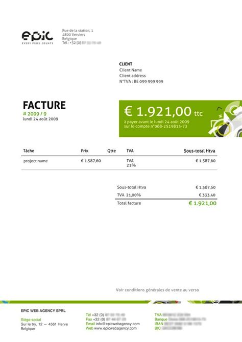 Contoh Invoice Tagihan by Contoh Desain Invoice Faktur Tagihan 05 Invoice Template