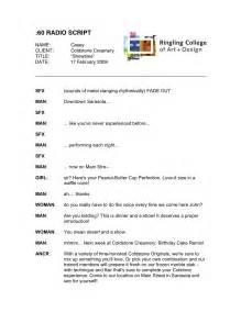 radio script template design by casey ligon advertising copywriting