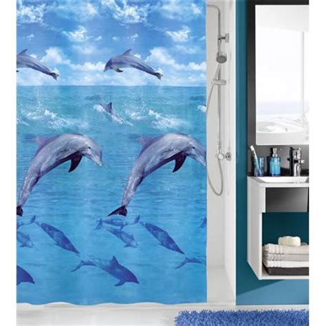 dolphin shower curtain kleine wolke dolphin peva shower curtain w1800 x h2000