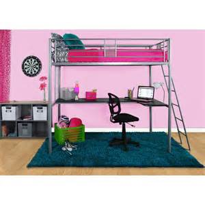 Modern Loft Bed With Desk All Elite Products Wayfair
