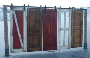 At The Barn Door Barn Door Kit And Barn Door Hardware Combo All In One Rustica Hardware