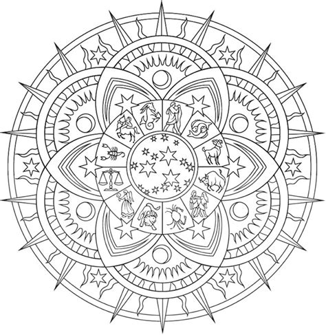 zodiac mandala coloring pages welcome to dover publications