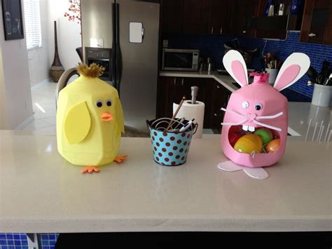 milk jug crafts for recycled milk jugs for easter project with and
