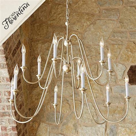casa florentina arielle chandelier  white  silver