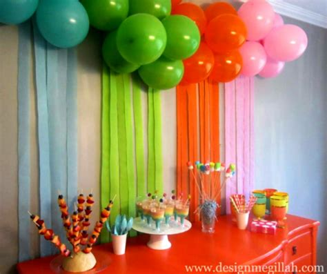 Decoration Ideas For Party At Home | 1st birthday decoration ideas at home for party favor homemade homelk com