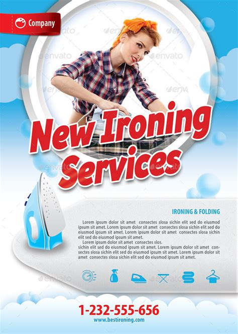 ironing service flyer template laundry services offer flyer template 119 by 21min