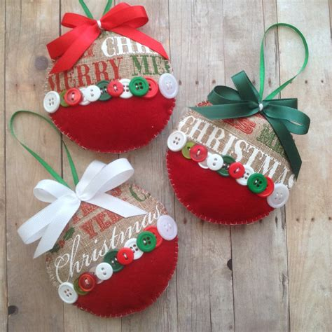 christmas burlap ornaments xmas fabric ornaments xmas