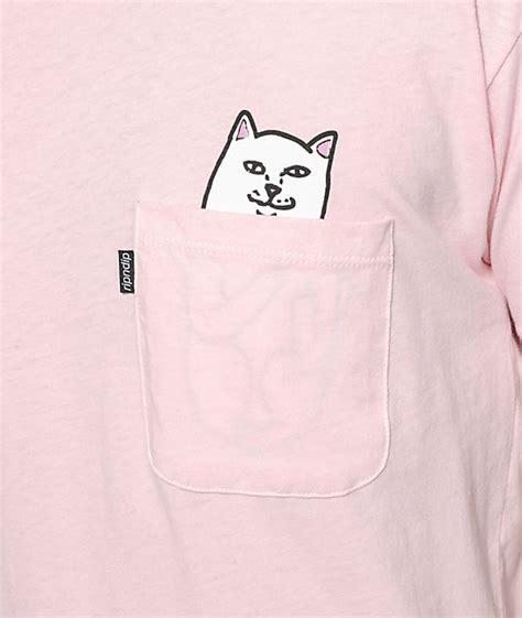 Kaos T Shirt Ripndip Lord Nermal Pocket Pink ripndip lord nermal pocket t shirt zumiez