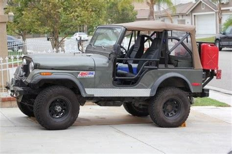 Jeep Kanvas Green purchase used 1977 cj jeep green canvas top