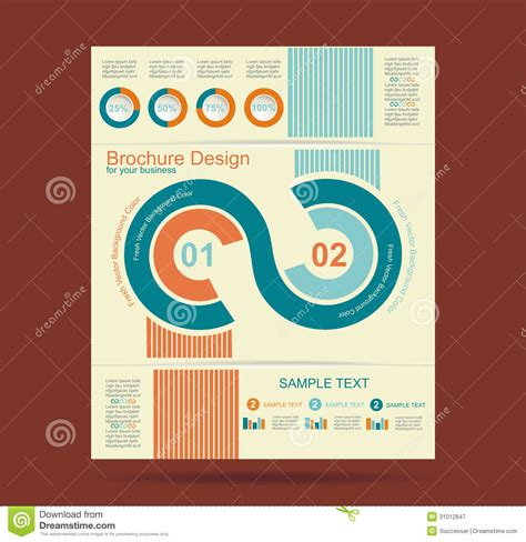 advertising brochure design royalty free stock photography