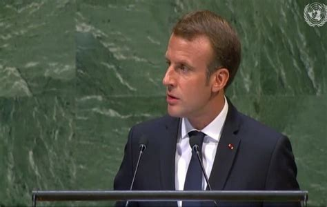 emmanuel macron unga macron wants iran to sell oil urges dialogue