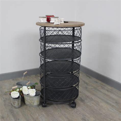 round bathroom storage unit black round metal storage unit wheels bedroom bathroom kitchen vintage chic home ebay
