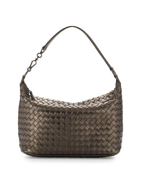 Clutch Bottega Line Brown bottega veneta intrecciato leather small shoulder bag