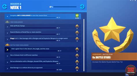 fortnite season  week  weekly challenge list revealed
