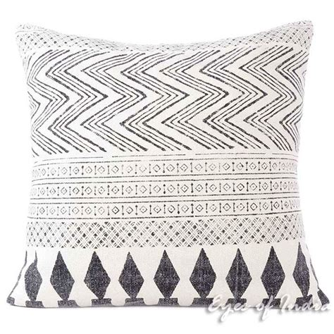 white sofa with colorful pillows white black dhurrie printed cushion pillow sofa