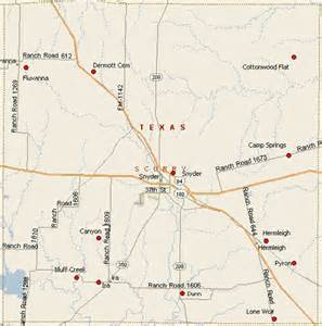snyder texas map scurry county cemeteries
