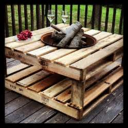 pallet pit pallet pit on table wood spool