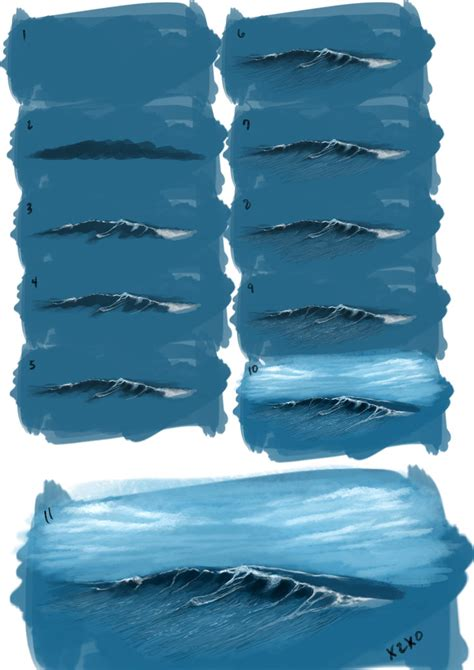 how do you draw waves 670px draw a painting waves by x2x0 on deviantart