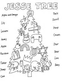 a jesse tree coloring page advent calenders jesse tree