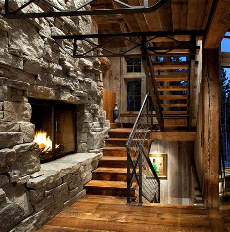 ski lodge fireplace rustic ski lodge home bunch interior design ideas