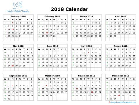 calendar 2018 templates 2018 calendar excel template