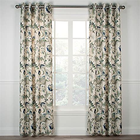 63 inch window curtains buy brissac 63 inch grommet window curtain panel in blue