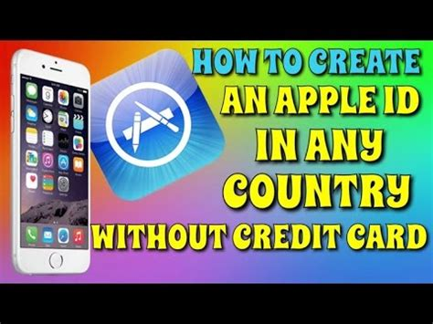make free apple id without credit card create an apple id in any country without credit card