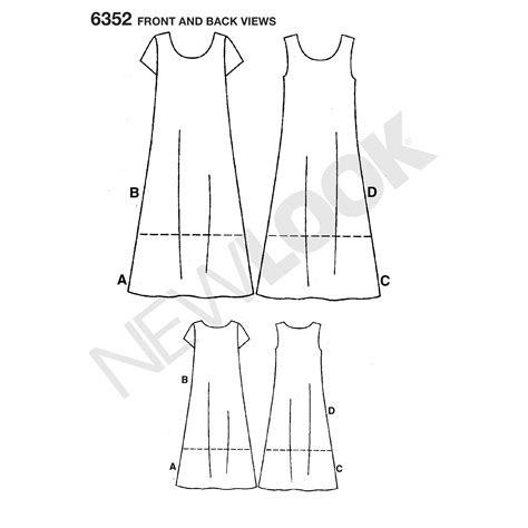 net new pattern pattern for misses dresses simplicity