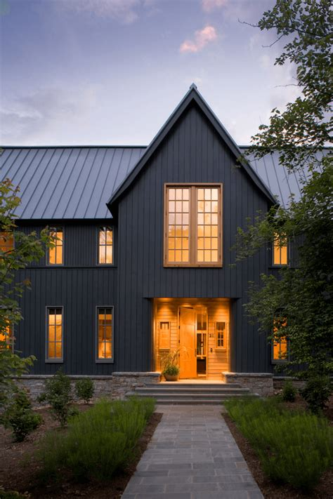 blue exterior house paint with orange stripe and black black exterior ideas for a hauntingly beautiful home