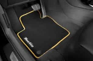 new oem volkswagen beetle mojo carpet floor mats yellow