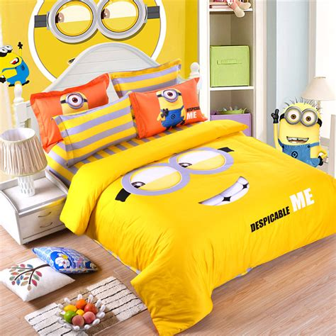 Yellow Minion Bedroom Get Cheap Yellow Bed Comforter Aliexpress