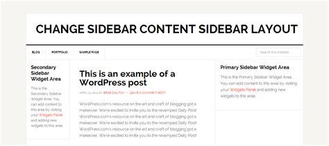 sidebar layout wordpress plugin modify sidebar content sidebar layout to equal width sidebars