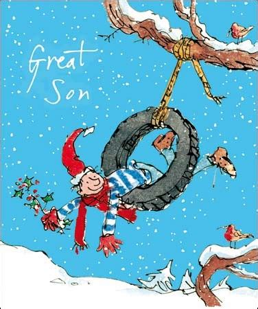 swing holidays a lovely christmas cartoon card by sir quentin blake for