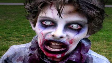 imagenes de zombies para halloween para niños maquillaje para halloween para ni 241 os youtube