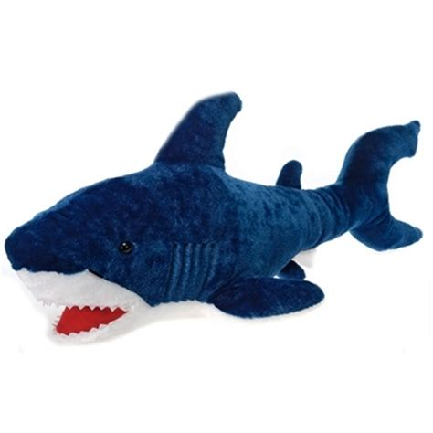 shark plush large stuffed blue shark 29 inch plush animal by at stuffed safari