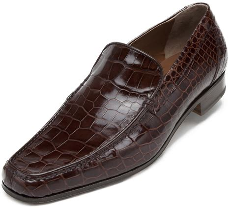 Sepatu Murah Crocodile Eldorado Suede Brown mauri 3972 golden rust all genuine alligator loafer shoes 1 199 90 upscale menswear