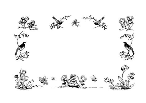 coloring page frame fairy tales img