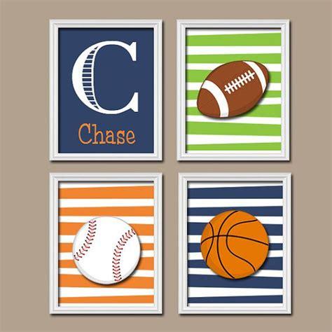 Football Nursery Decor Sports Wall Canvas Or Prints Boy Nursery Artwork Sports Theme Big Boy Bedroom Football