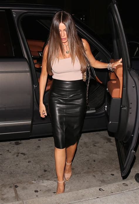 lovely in leather sofia vergara in a leather