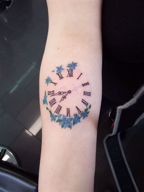 clock tattoos clock set to the time my was born dave s