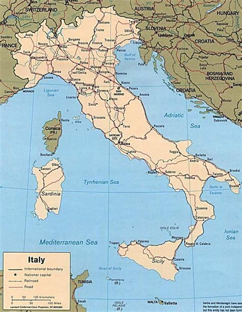 di talia map of italy
