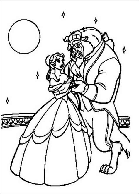 beauty and the beast dancing coloring pages free beauty and the beast coloring pages