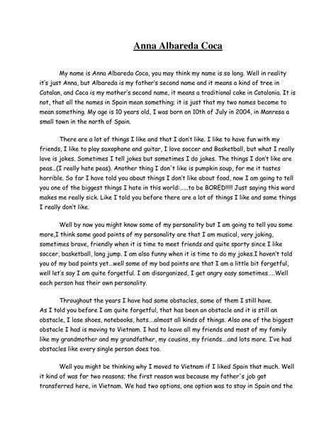 Funny Autobiography | Templates at allbusinesstemplates.com