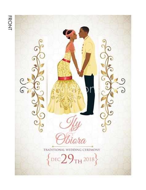 Wedding Cards Designs In Nigeria by Traditional Wedding Invitation Card Igbo