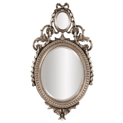 silver oval mirrors bathroom pomeroy antique silver oval mirror uvhe84019