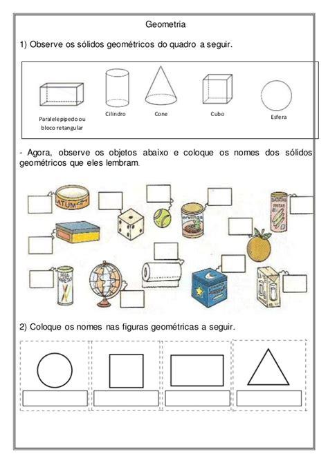 figuras geometricas quarto ano rosearts atividades para imprimir geometria s 243 lidos