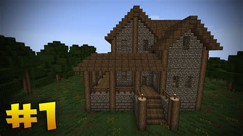 how to build a medieval house in minecraft minecraft tutorial how to build a medieval house part 1 youtube