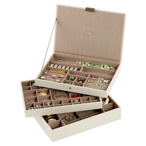 container store jewelry storage vanilla supersize stackers premium jewelry storage the