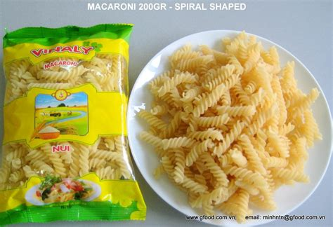 Makaroni Spiral 1 macaroni spiral shaped 200gr 400gr products
