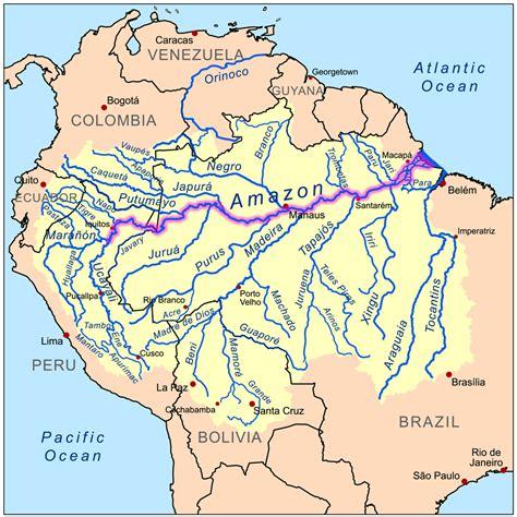 Amazon River Map | file amazonrivermap png
